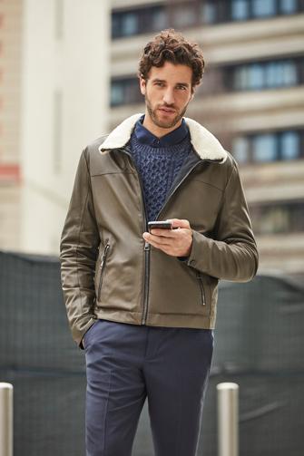 low priced 50b47 dc2c7 Giacca pelle uomo collezione | Paolo Moretti moda italiana ...