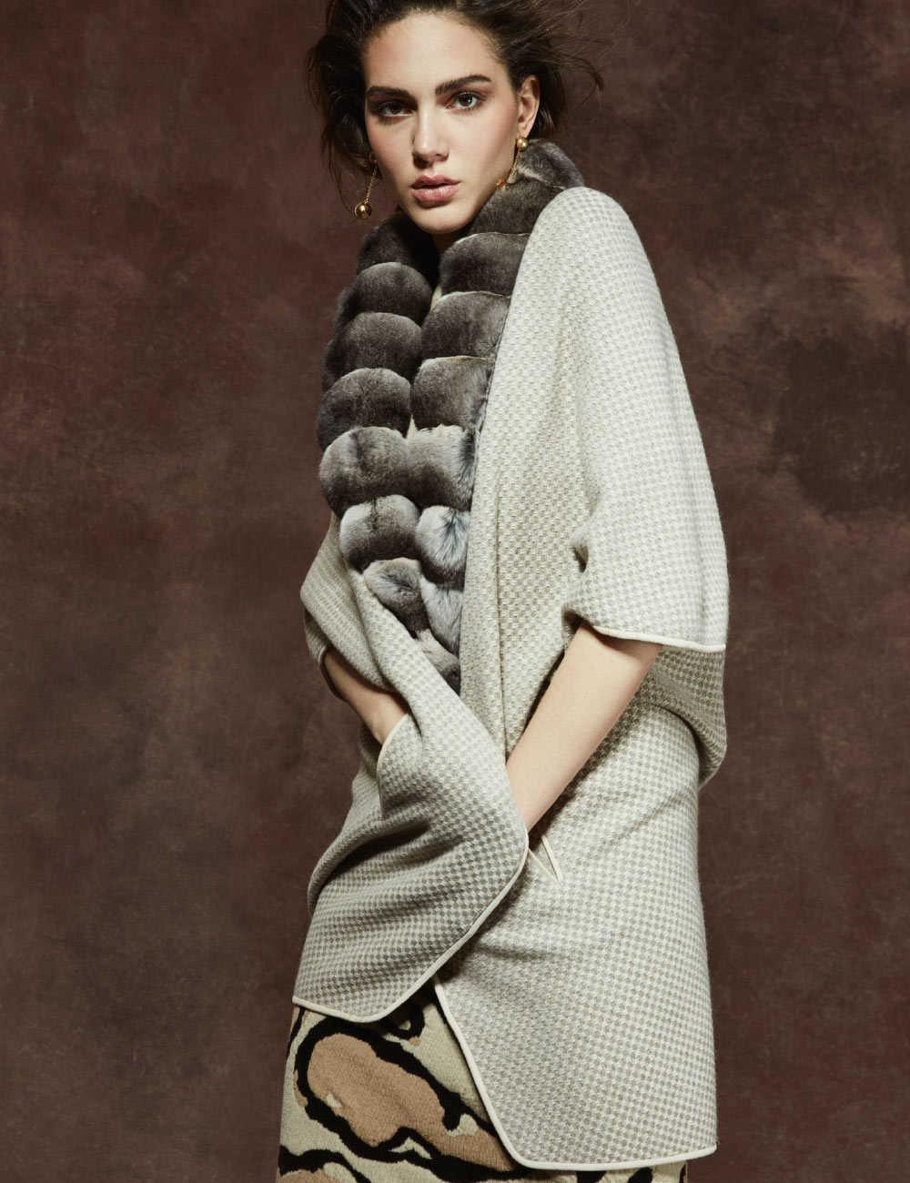 Cappotto donna con pelliccia di zibellino | Paolo Moretti